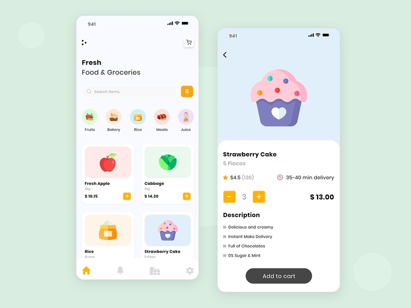 Dairy & Grocery Store UI app development company mobile app food delivery food app business instacart app development app design app clone startup logo startup online dailyui ecommerce groceries grocery online grocery store grocery grocery app dairy