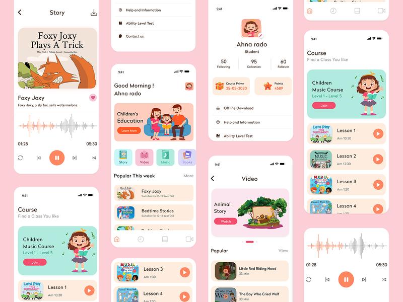 Child education App child book child care children design illustration app design app clone school university educational app education website online mobile app design education app education child app app development