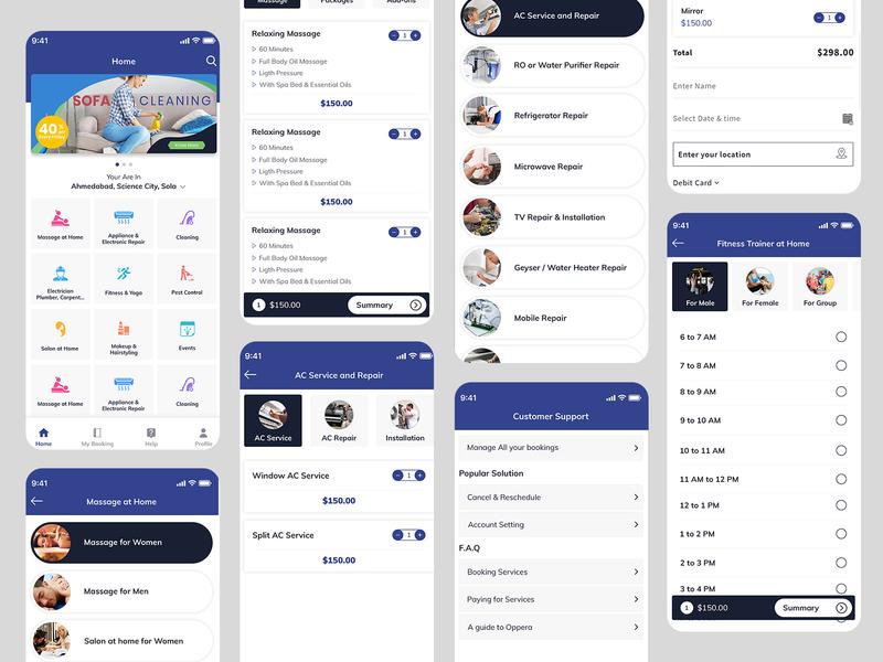 Handy Clone App UI plumbers delivery app cleaning electronics plumbing shopping app digital marketing app solution marketplace app clone mobile app design app design app development