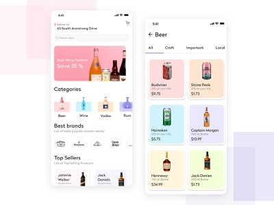 Online Liquor Delivery online store beer delivery on demand on demand app app developer delivery service delivery app delivery alcohol branding app clone alcohol app development