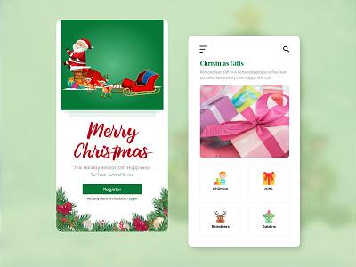 Creative Christmas App UI ui app ui design mobile app design creative christmas design christmas card ui kit festival poster festival logo festival app festival design app design ui design ui ux