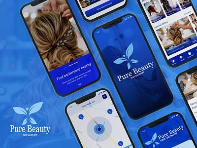 Hair Salon App UI app ui ux beauty product beauty app beauty salon beauty on demand app app development salon ui salon app design app ui kit ui ux design design app design ui ux ui design app ui design