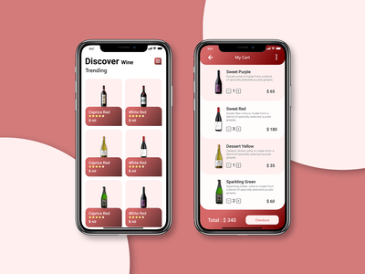 Wine Delivery Mobile App UI mobile app ui kit design alcohol wine delivery wine design ui ux ui design ui ux web uiuxdesign user interface app design app ui mobile app designer mobile app design app development uiux ui ux user ui ui kit designs