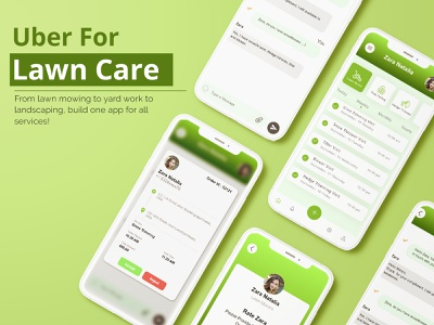 Uber for lawn Care App UI uber clone mobile app design lawn care app lawncare gardening ui kit ui ui ux user uiux app development mobile app designer app ui app design user interface ui kit design uiuxdesign ui ux web ui design ui ux mobile app