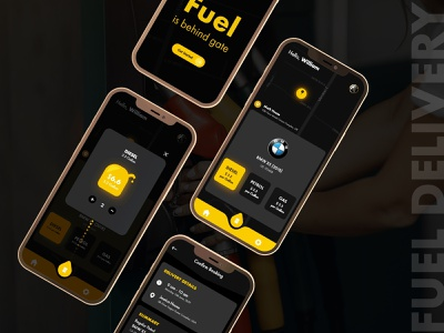 Fuel Delivery Mobile App UI app development mobile ui app ui fuel ordering mobile app designer ui kit design design ui ios app design uiux ui design app design fleet management orders on demand oil gas delivery mobile