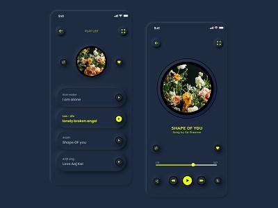 Music Player App neumorphism ui beats spotify music streaming playlist music player ui application player artist music player app ui music player