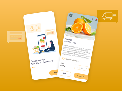 Grocery Delivery App UI delivery app design app design food app grocery store ui ux user ui kit design app delivery design illustration product online shop food ui mobile app design delivery app grocery grocery app