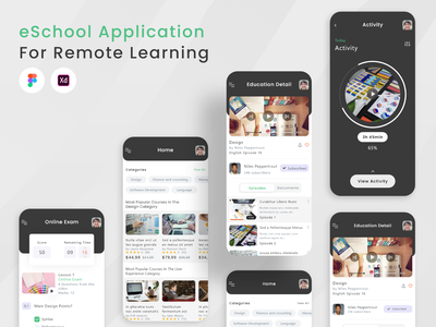 Education App UI KIT mobile app development tutor teaching learning platform online course edtech education e-learning product design app ui online learning platform online learning education website education app ux uidesign ux design mobile mobile app