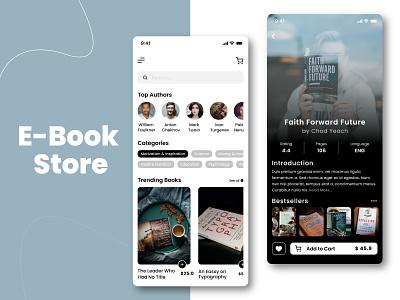 E-Book Store Mobile App UI Design e-book store ecommerce app app development mobile app app ui app clone mobile app design