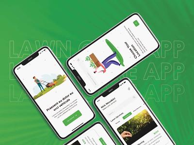 Lawncare App UI Design ui design illustration mobile app app clone app ui mobile app design app design app development uber for lawn lawn care uber for lawn care