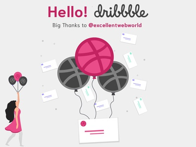 Hello Dribbble!!! hellodribbble dribbbleinvites dribbble typography app ui branding landing page design food app uber clone web ux ui logo app apps application invitation design invitation app development app design app
