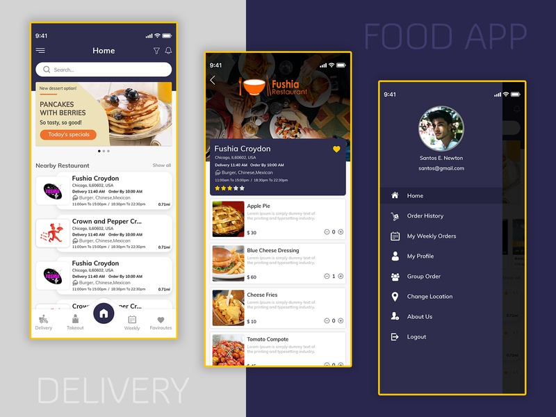 Food Delivery App Development Solution ui design food ubereats clone uber clone food delivery app food app ui food app app