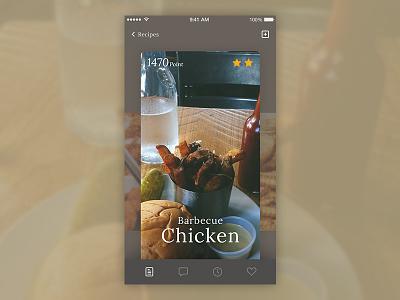 Mobile Food Concept UI Design interface clean application app ios creative design mobile ux ui