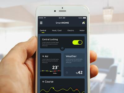 SmartHome Mobile UI/UX interface clean application app ios creative home smart design mobile ux ui