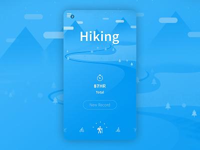 Outdoor App Concept interface mobile concept ios ux ui app outdoor