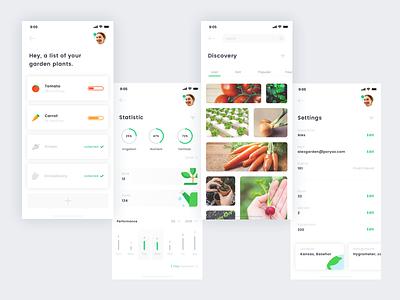 The Garden UI app garden iphone x mobile ux ui