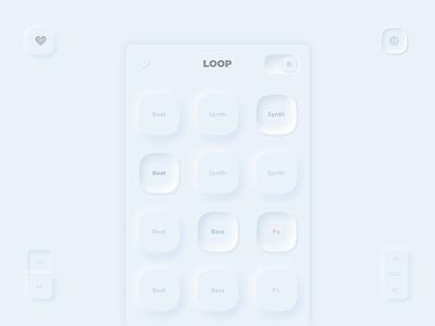 Loop Neumorphism Light Ui skeumorphic iphone ui design android ios creative application design app mobile interface ui ux