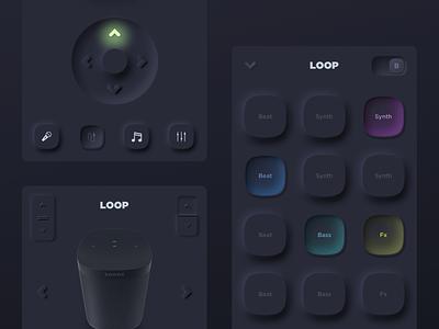 Loop Neumorphism Ui ui design neumorphism skeumorphic creative ios design app mobile interface ui ux