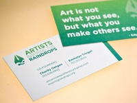 Artist Inspiring the Raindrops business card