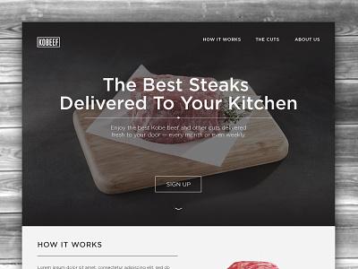 Daily UI – 003 Landing Page steak ux ui landing page design web 003 dailyui
