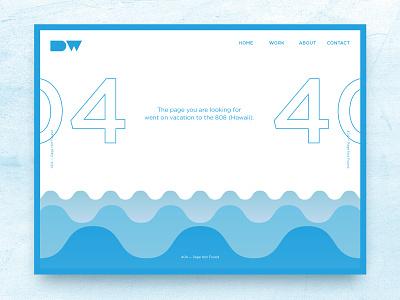 Daily UI — 008 404 Page ux ui design interface web page 404 008 dailyui