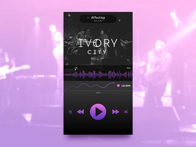 Daily UI — 009 Music Player interface design ux ui app mobile player music 009 dailyui