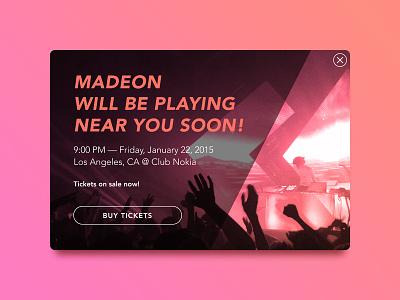 Daily UI — 016 Pop Up madeon interface ux ui pop up 016 dailyui