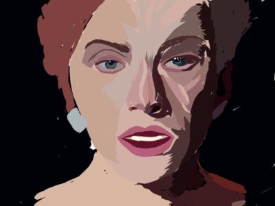 Ally portrait adobe draw lady gaga