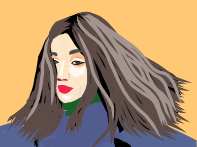 When she twirled simple illustration adobe girl