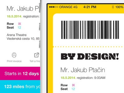 Mobile Ticket for By Design Conference conference design ticket playoff bydesign mobile