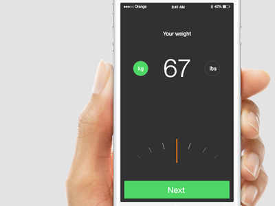 Minimalist Scale explorations profile weight scale ios iphone ux ui