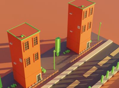Building Blocks Lowpolygon
