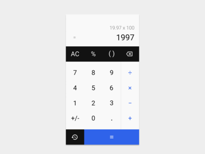 #dailyui004 - Basic Calculator