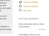 Twitter Comments PT Sans + PT Serif