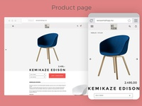 Product page for e-commerce