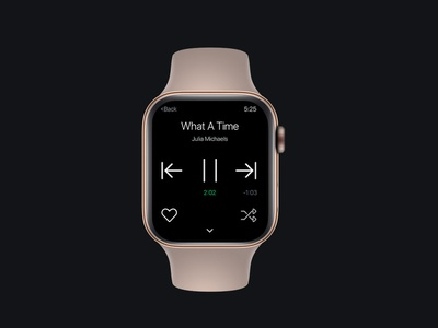 Dailyui - Day 9 Music player for Apple Watch apple applewatch dailyui
