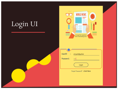 Red & Yellow Simple Login UI