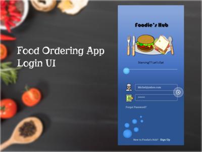 Food Ordering App Login UI