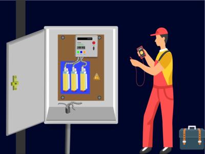 Electric Meter Illustrator