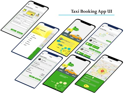 Taxi Booking app UI-kit