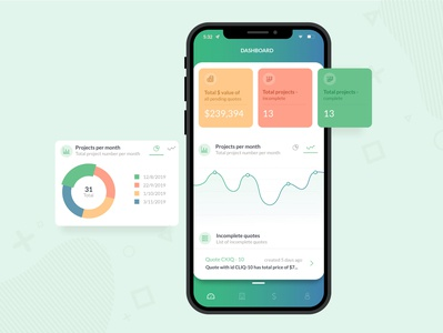 App Dashboard Design