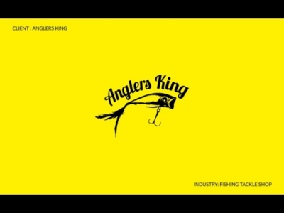 Anglers King - Fishing Tackle Shop shop portfolio new logos logofolio tackle graphic design creative fishing branding yellow behance
