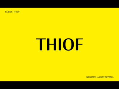 THIOF- LUXURY APPAREL luxury portfolio new logos logofolio graphic design apparel creative branding behance