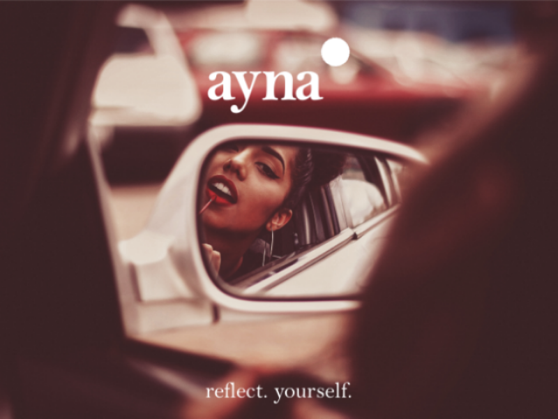 ayna   Cosmetic Branding identity india modern luxury logo branding cosmetics