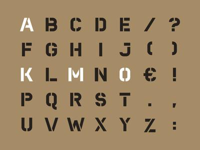 Kamo Stencil (Uppercase)