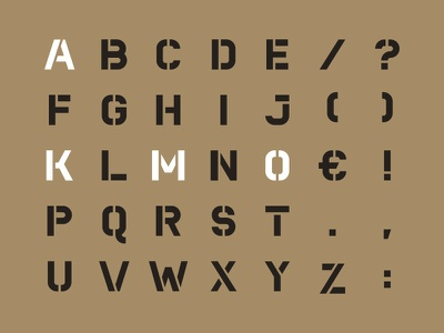 Kamo Stencil (Uppercase) kamo stencil letters uppercase font typeface typography