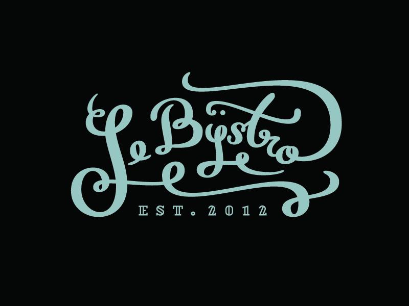 Le Bÿstro branding identity logo logotype handmade calligraphy warsaw polska poland winebar restaurant le bÿstro bistro