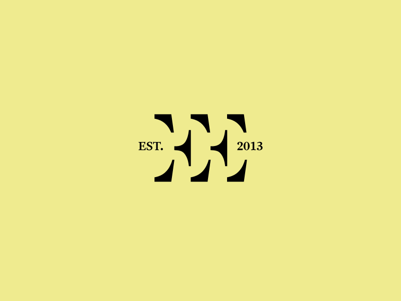 EE clothes style modern clothing brand identity ee initials serif