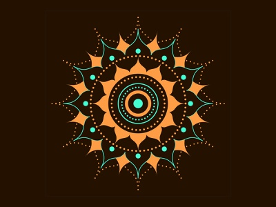 MANDALA DECORATIVE DESIGN ui icon minimal drawing decorations beautiful mandalas mandala decorating vector illustration design dribbble