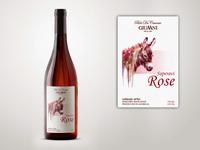 Label for Rosé wine